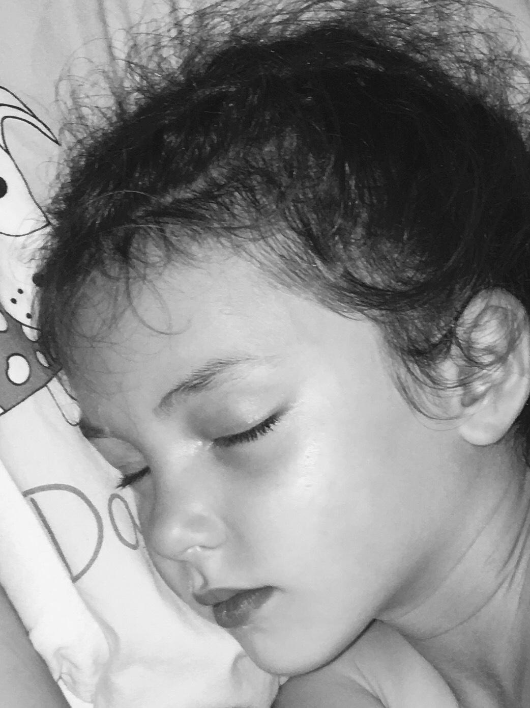 Hertford nutrition image of child sleeping