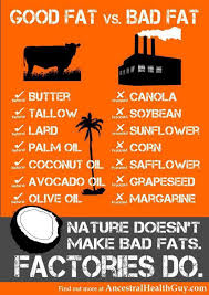 image of a chart of good fats bad fats linked to emotions